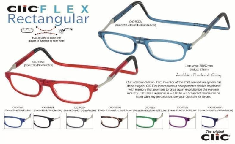 Clic Flex Magnetic Reading Frames